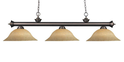 Z-Lite 200-3ob-gm16 Riviera Olde Bronze Collection 3 Light Billiard - ZLiteStore