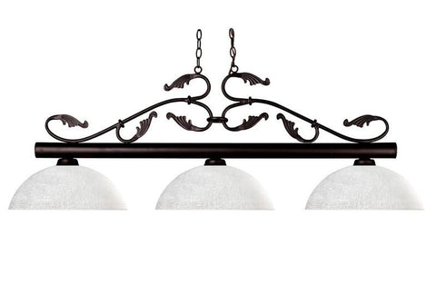 Z-Lite 140brz-dwl14 Bourbon Collection 3 Light Billiard - ZLiteStore