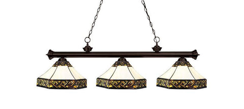 Z-Lite 200-3brz-z16-30 Riviera Bronze Collection 3 Light Billiard - ZLiteStore