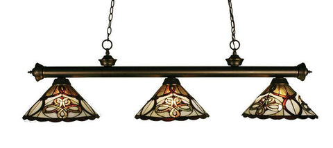 Z-Lite 200-3ob-z14-10 Riviera Olde Bronze Collection 3 Light Billiard - ZLiteStore