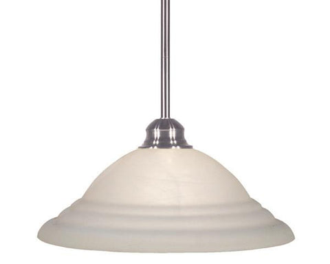 Z-Lite Pendant Lights Collection Brushed Nickel Finish One Light Pendant - ZLiteStore