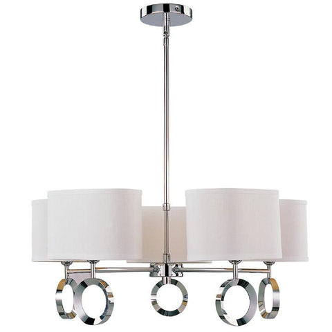 Z-Lite Delta Collection Polished Stainless Steel Finish Five Light Chandelier - ZLiteStore