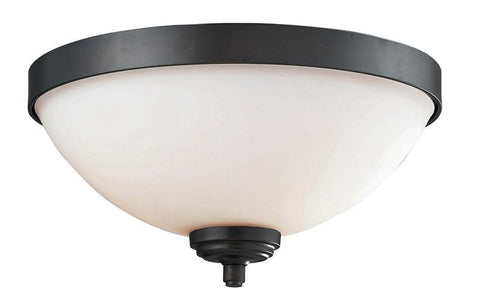 Z-Lite 2006F2 Chambley Collection Oil Rubbed Bronze Finish 2 Light Flush Mount - ZLiteStore