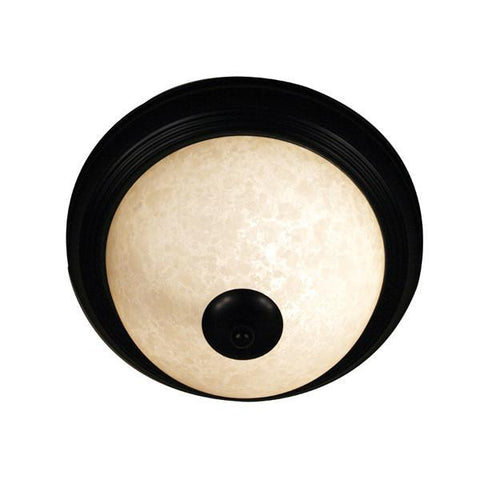 Z-Lite Huntingdale Collection Bronze Finish One Light Flush Mount - ZLiteStore