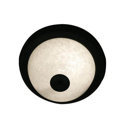 Z-Lite Huntingdale Collection Matte Black Finish One Light Flush Mount - ZLiteStore