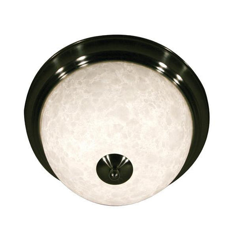 Z-Lite Huntingdale Collection Brushed Nickel Finish Two Lights Flush Mount - ZLiteStore