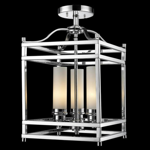 Z-Lite 180SF Altadore Collection Chrome Finish 3 Light Semi Flush Mount - ZLiteStore
