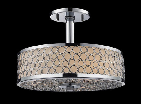 Z-Lite 199SF Synergy Collection Chrome/Matte Opal Finish 3 Light Semi-Flush Mount - ZLiteStore