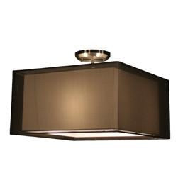 Z-Lite Nikko Collection Brushed Nickel/Black Finish Three Lights Semi Flush Mount - ZLiteStore