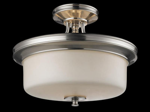 Z-Lite 2102SF Cannondale Collection Brushed Nickel/Matte Opal Finish 3 Light Semi-Flush Mount - ZLiteStore