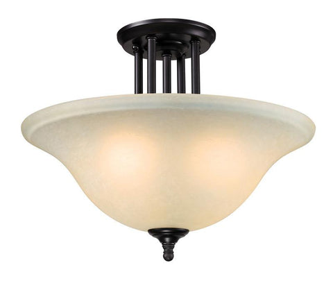 Z-Lite 2114sf Athena Collection 3 Light Semi-Flush Mount - ZLiteStore