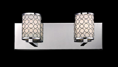 Z-Lite 199-2V Synergy Collection Chrome/Matte Opal Finish 2 Light Vanity Light - ZLiteStore