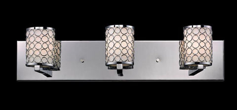 Z-Lite 199-3V Synergy Collection Chrome/Matte Opal Finish 3 Light Vanity Light - ZLiteStore