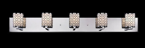 Z-Lite 199-5V Synergy Collection Chrome/Matte Opal Finish 5 Light Vanity Light - ZLiteStore