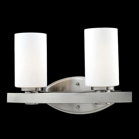 Z Lite Adria Collection Brushed Nickel Finish Two Light Vanity Light - ZLiteStore