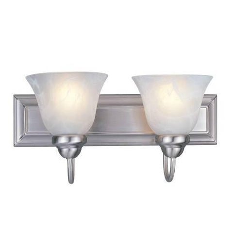 Z-Lite Lexington Collection Brushed Nickel Finish Two Light Vanity - ZLiteStore
