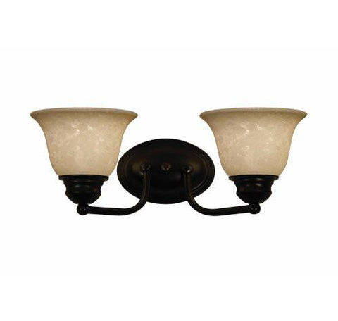 Z-Lite Huntingdale Collection Bronze Finish Two Lights Vanity - ZLiteStore