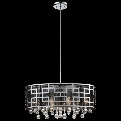 Z Lite Mirach Collection Chrome Finish Six Light Crystal Chandelier - ZLiteStore