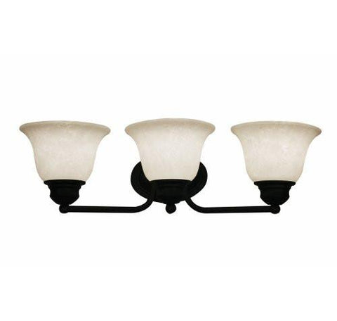 Z-Lite Huntingdale Collection Matte Black Finish Three Lights Vanity - ZLiteStore