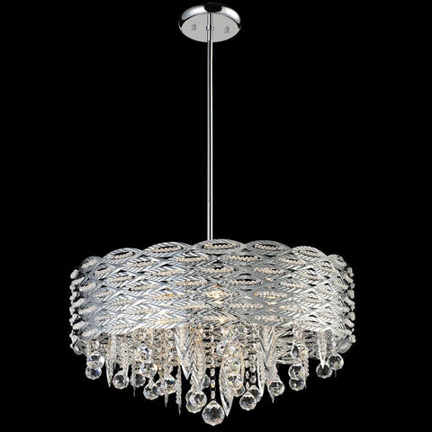 Z Lite Adara Collection Chrome Finish Six Light Crystal Chandelier - ZLiteStore