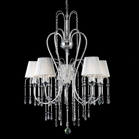 Z Lite Palomar Collection Chrome Finish Five Light Crystal Chandelier - ZLiteStore