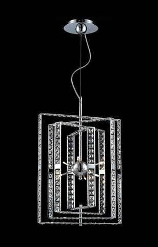 Z-Lite 856CH Aurora Collection Chrome Finish 6 Light Crystal Chandelier - ZLiteStore