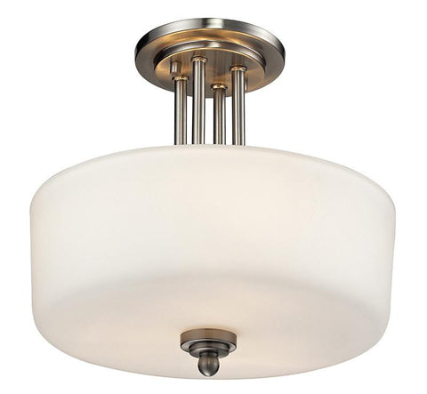 Z-Lite 434-SF-BN 3 Light Semi-Flush Mount - ZLiteStore