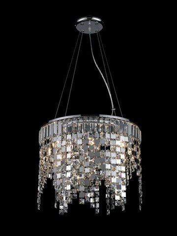 Z-Lite 860CH Nyssa Collection Chrome Finish 8 Light Crystal Chandelier - ZLiteStore