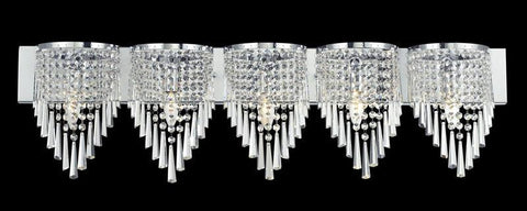 Z-Lite 868ch-5v Tango Collection 5 Light Crystal Vanity Light - ZLiteStore