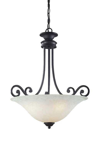 Z-Lite Windsor Collection Matte Black Finish 1 Light Pendant - ZLiteStore