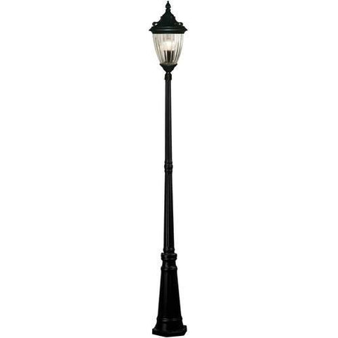 Z-Lite Waterloo Collection Black Finish Outdoor Post Light - ZLiteStore