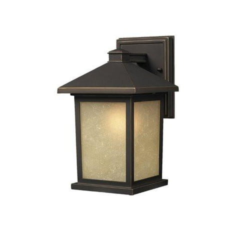 Z-Lite Holbrook Collection Olde Rubbed Bronze Finish Outdoor Wall Light - ZLiteStore