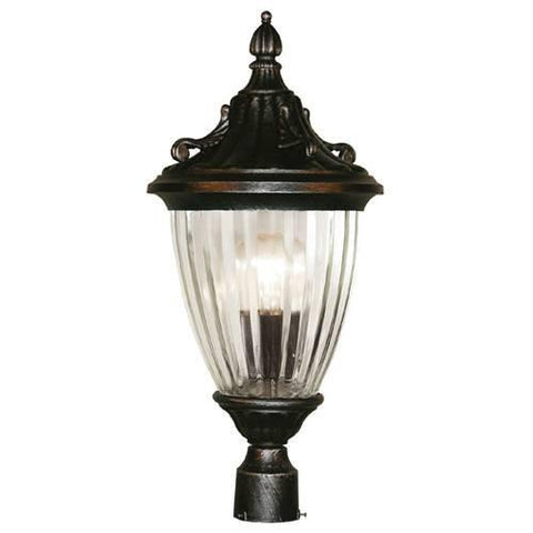 Z-Lite Waterloo Collection Black Silver Finish Outdoor Post Light - ZLiteStore