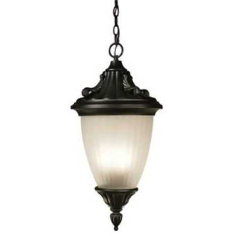 Z-Lite Waterloo Collection Black Finish Outdoor Chain Light - ZLiteStore