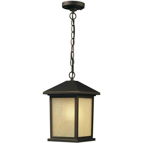 Z-Lite Holbrook Collection Olde Rubbed Bronze Finish Outdoor Chain Light - ZLiteStore