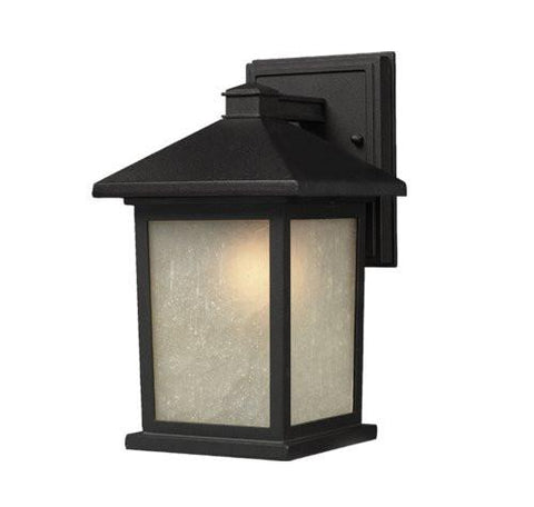 Z-Lite Holbrook Collection Black Finish Outdoor Wall Light - ZLiteStore