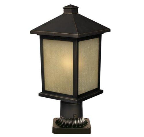 Z-Lite Holbrook Collection Olde Rubbed Bronze Finish Outdoor Post Light - ZLiteStore