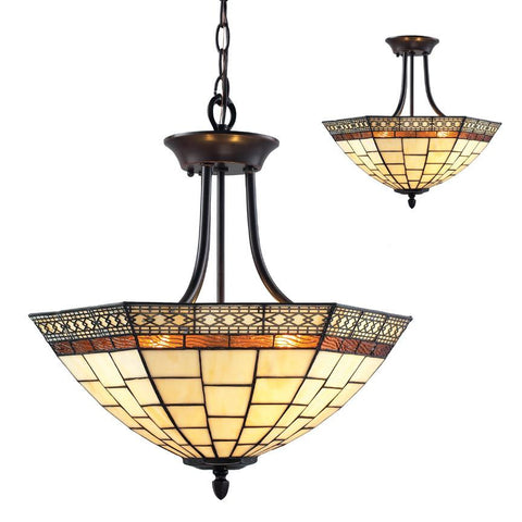 Z Lite Prairie Garden Collection Chestnut Bronze Finish Three Light Semi-Flush Mount - ZLiteStore