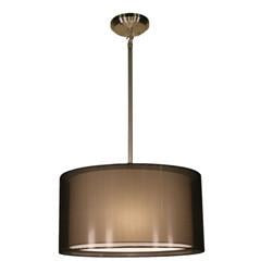 Z-Lite Nikko Collection Brushed Nickel/Black Finish Three Lights Pendant - ZLiteStore