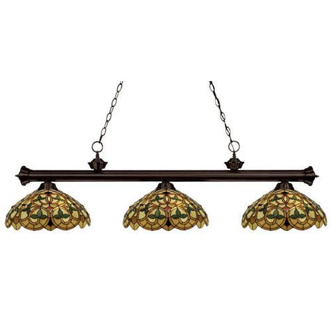 Z-Lite English Ivy Antique Brass 3 Light Billiard 100703BRZ-C14 - ZLiteStore