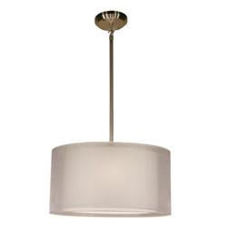 Z-Lite Nikko Collection Brushed Nickel/White Finish Three Lights Pendant - ZLiteStore