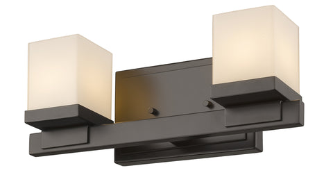 Z-Lite 1913-2V-BRZ-LED Cadiz Collection Bronze Finish 2 Light Vanity Light