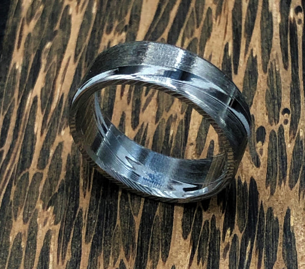 Damasteel Dense Twist Ring