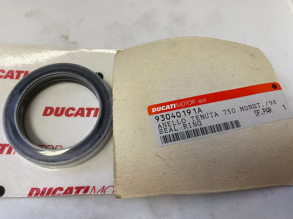 Ducati 900 Monster NOS Fork Seal Ring, #93040191A