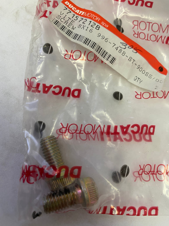 Ducati 996 SBK, 900 SS NOS M8x16 Front Brake Screws, #77157212B