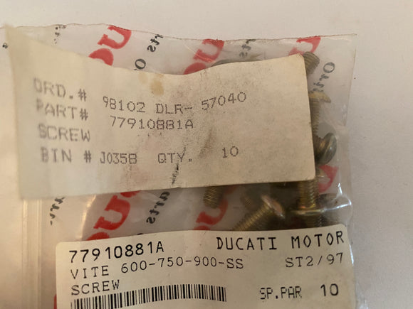 Ducati 900 Supersports NOS M5x16 Screw, #77919881A