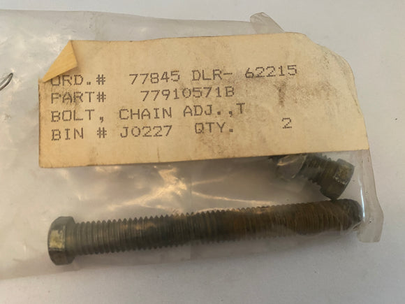 Ducati 750 ss NOS Chain Adjuster Bolt Set, #77910571B