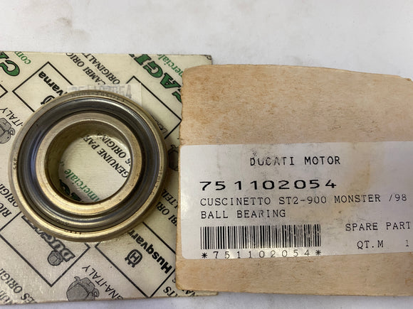Ducati 900 Monster & ST2 (98) NOS Ball Bearing, #751102054