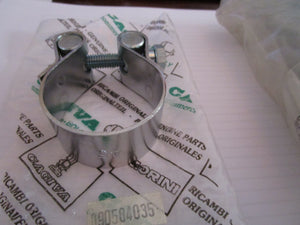 Cagiva/Ducati NOS 47/48 mm Bevel Drive Exhaust Clamps, #090584035