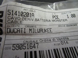 Ducati NOS Battery Cable for Monsters& Supersports, #51410201A